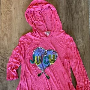 Juicy Couture sequin hoodie with back ruffle XL